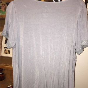 American Eagle Outfitters Tops - American Eagle Powder Blue Soft & Sexy Tee